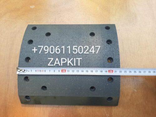 Накладка тормозная задняя ремонтная dx400x комплект 8шт. с клепками хагер хигер хайгер higer 6119, 6118, 6109, 6122, 6129 толщина 16.5мм