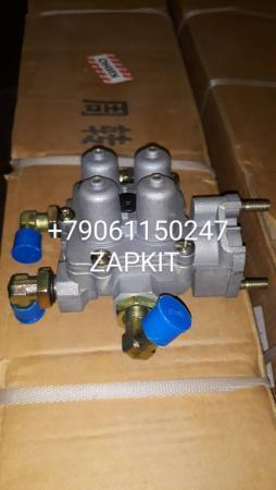 Клапан воздушный 4-х контурный 35G42-11020 (резьба штуцеров М16х1,5) хагер хигер хайгер higer, 9347141510