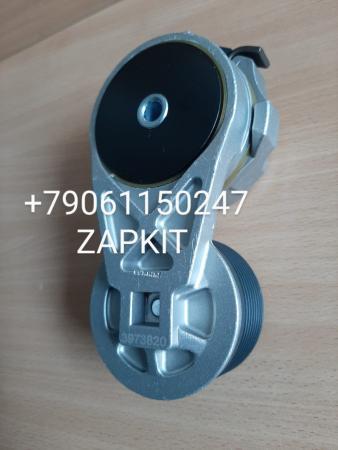 Натяжитель ремня генератора higer 3937820 ролик натяжной d=76 мм для двиг Cummins ISBe ISDe 3973820 3287277 3937820 хагер хигер хайгер higer 6119, 6885