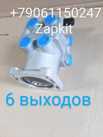 Главный тормозной кран higer, 6 выходов, Кран тормозной главный ,35KD3-14020 хайгер хагер higer