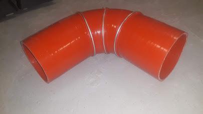 Патрубок интеркулера Higer хагер хайгер хигер г-образный угловой 90 градусов. Внутренний диаметр 100мм, 10 см.11VL1-18111