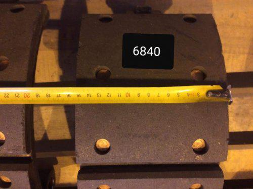 Тормозные накладки задние для автобуса хагер хигер хайгер higer 6840